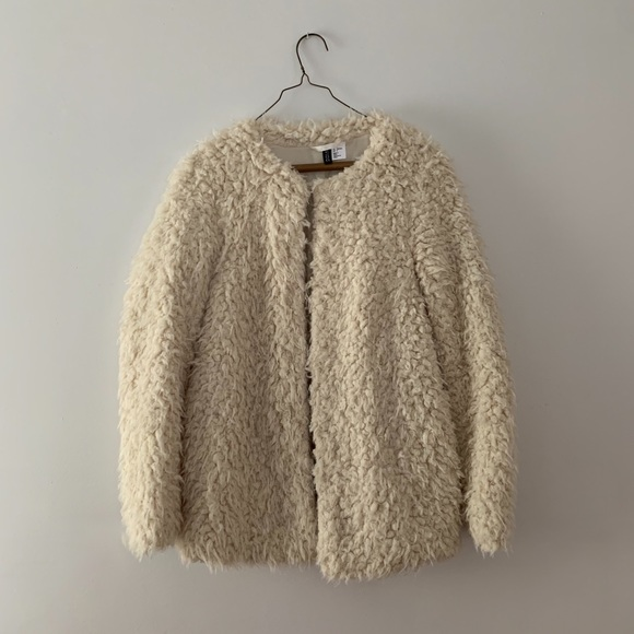 H&M Sweaters - H&M Faux Fur Cardigan
